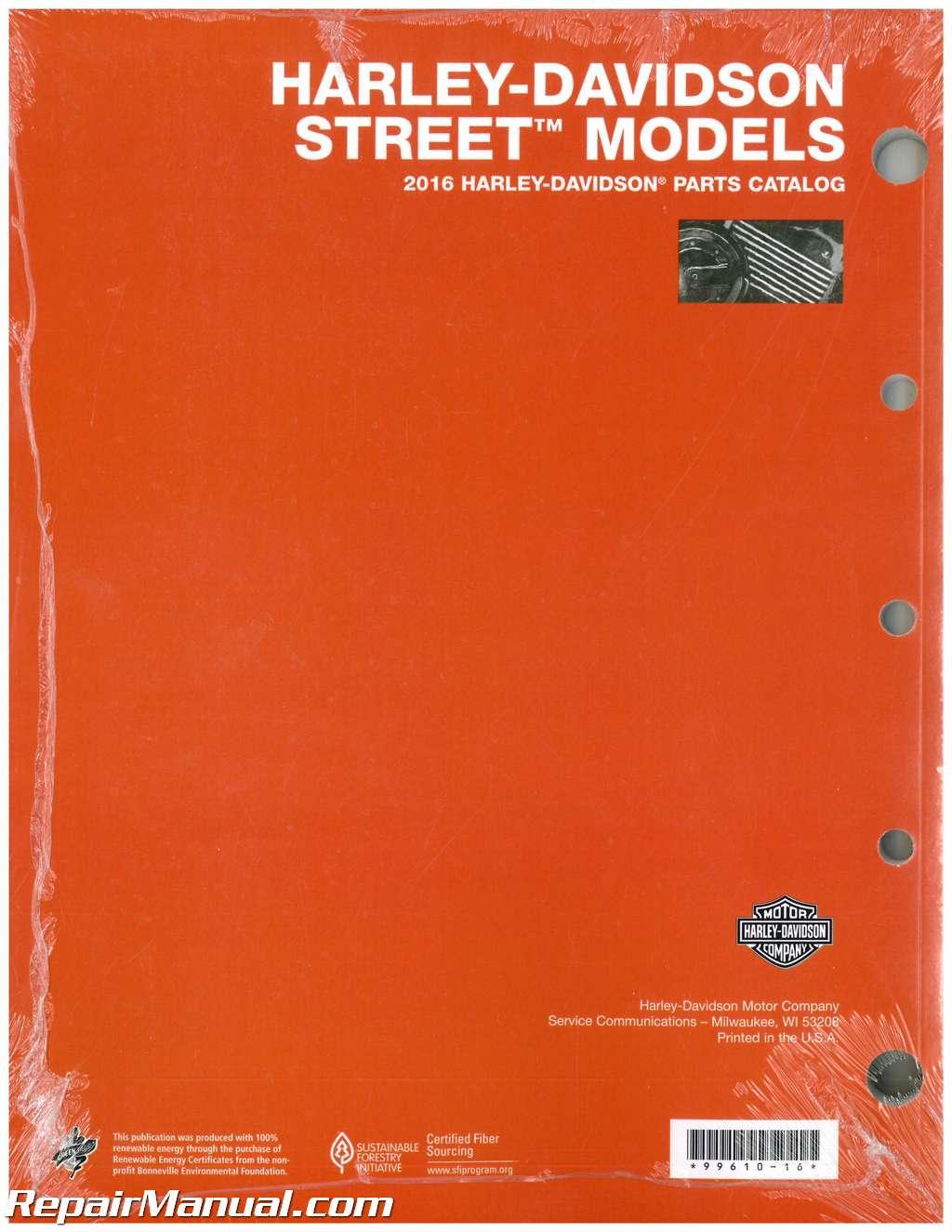 Harley Davidson Xg Parts Manual