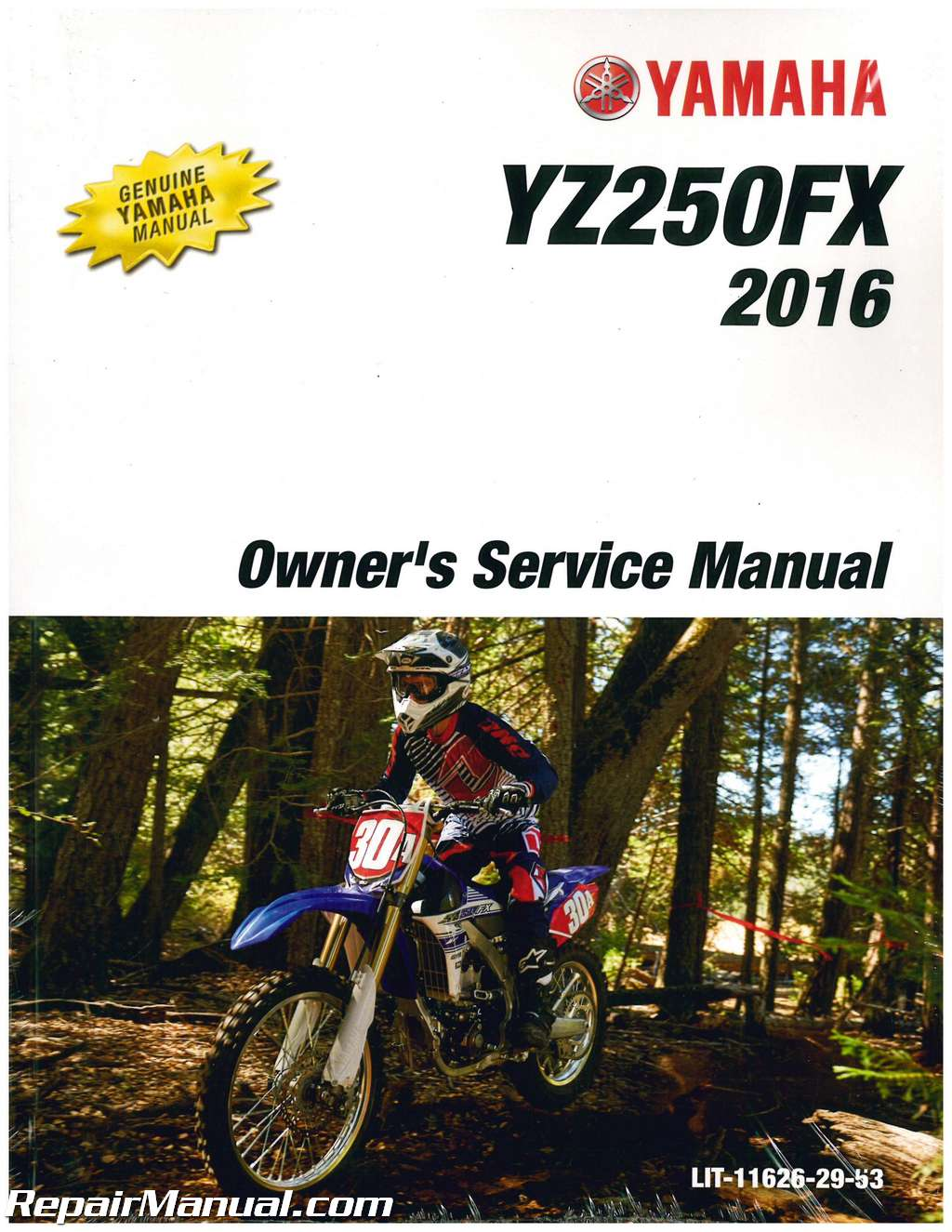 2016 Yamaha YZ250FX Motorcycle Owners Service Manual