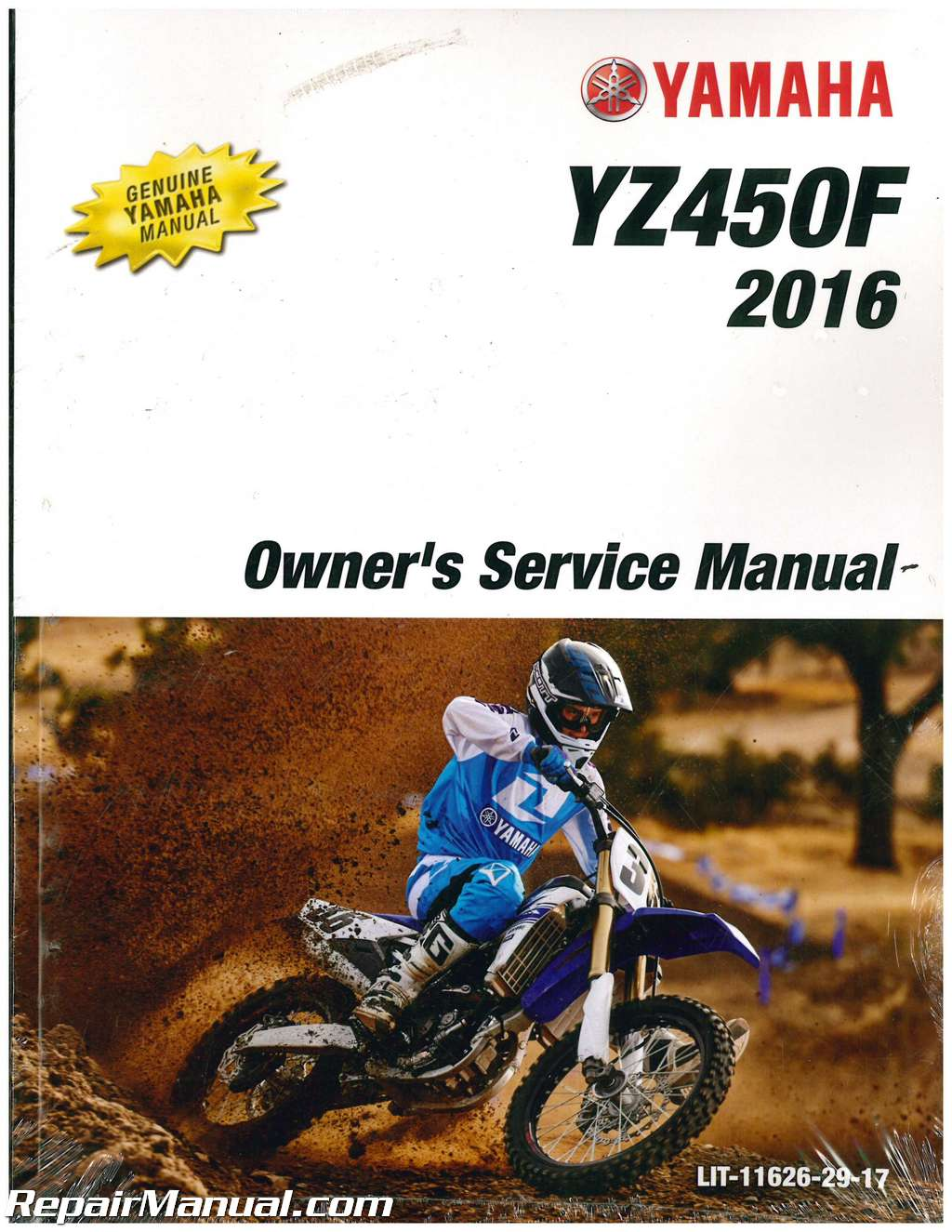 2016 yamaha yz450f motorcycle owners service manual. Black Bedroom Furniture Sets. Home Design Ideas