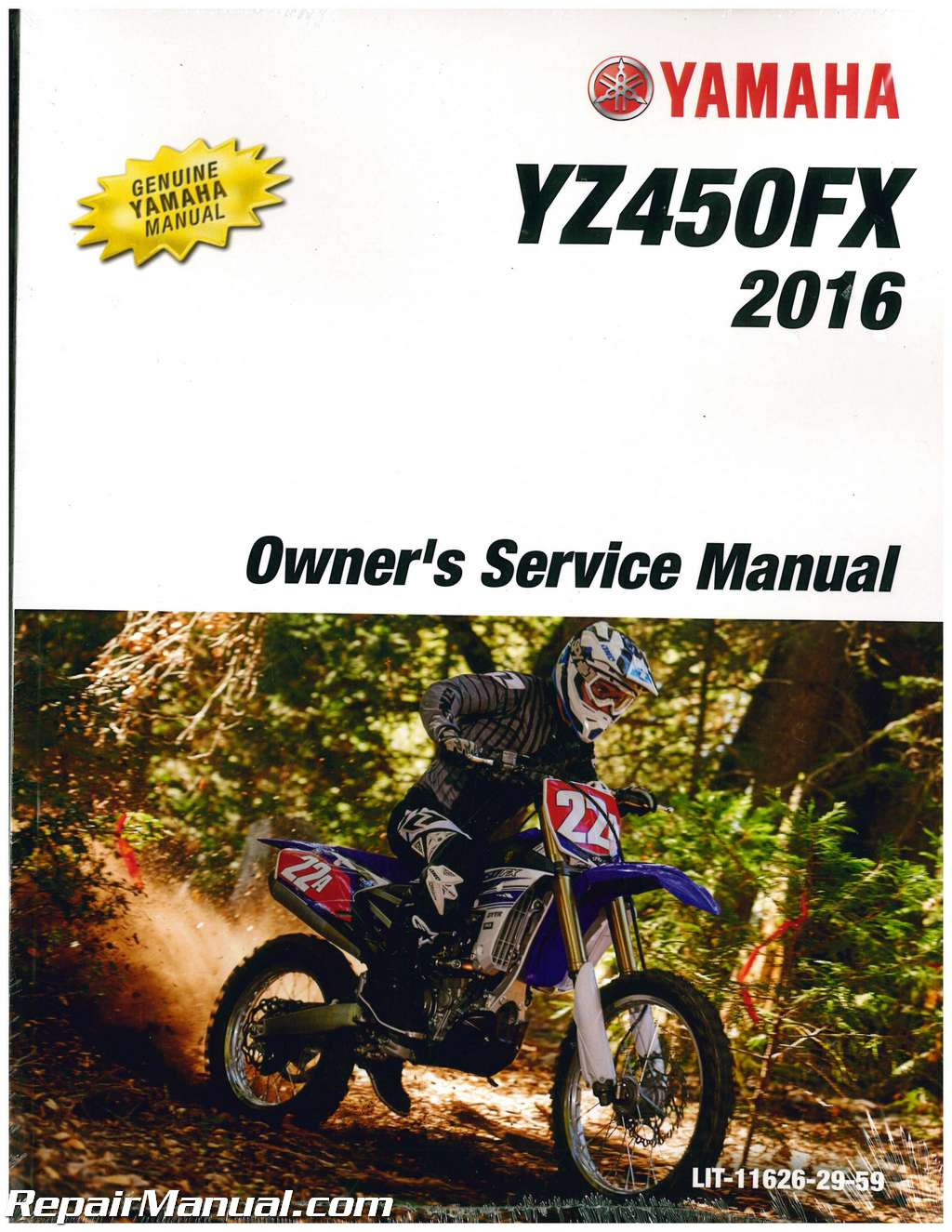 2016 yamaha yz450fx motorcycle owners service manual rh repairmanual com owner's manual motorcycle Manual Shift Motorcycles