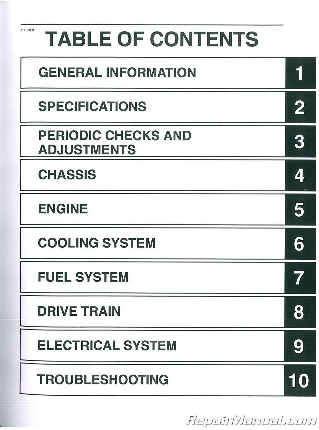 Honda Owners Manual >> 2017 - 2018 Yamaha Grizzly 700 ATV Service Manual