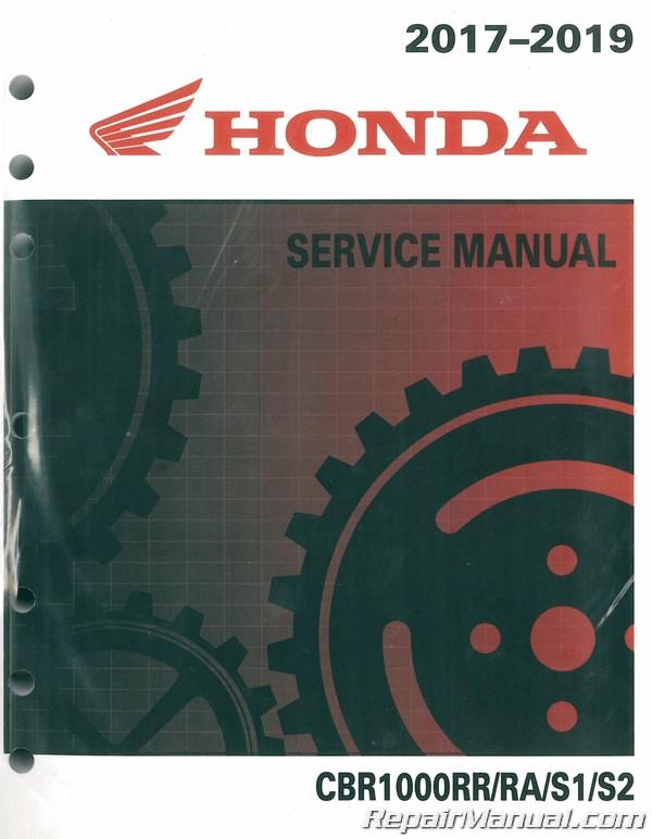 2017 2019 Honda Cbr1000rr Motorcycle Service Manual