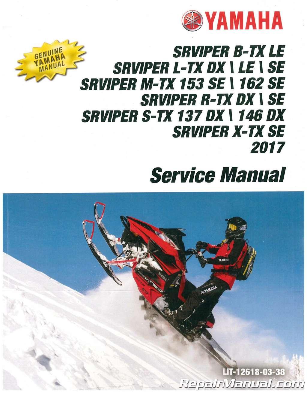 Workshop Manual Yamaha Sr