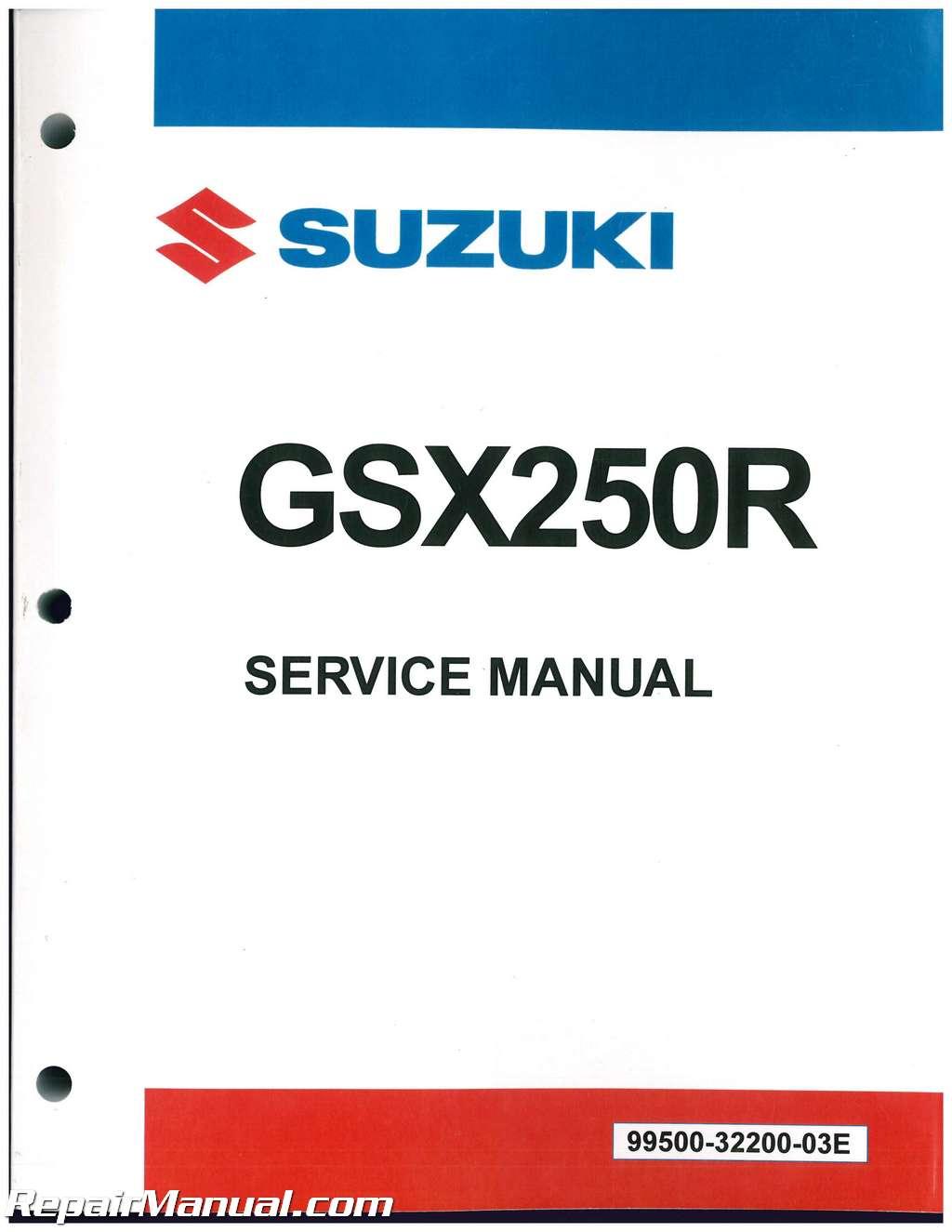 2018 Suzuki GSX250R Motorcycle Service Manual
