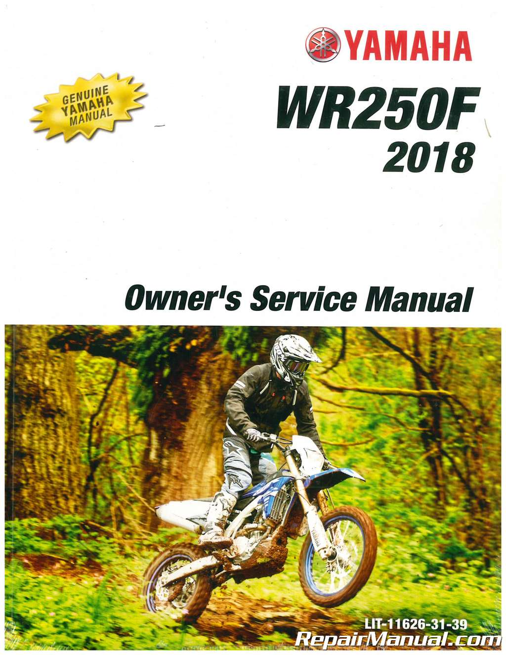 2018 yamaha wr250f motorcycle owners service manual.