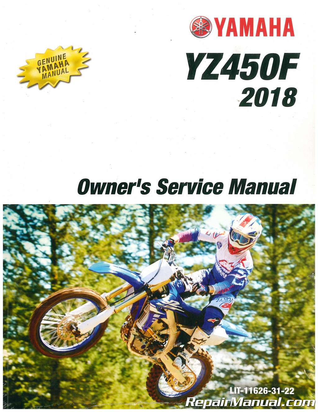 2007 yamaha yz450f owners manual.