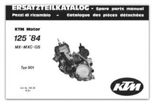 1984 ktm 125 gs mx mxc motorcycle engine spare parts manual. Black Bedroom Furniture Sets. Home Design Ideas