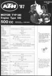 Official 1987 KTM 500 MX Engine Parts Booklet
