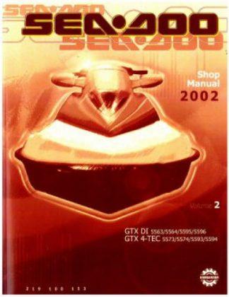 Official 2002 Sea-Doo GTX DI GTX 4-Tec Shop Manual Vol 2