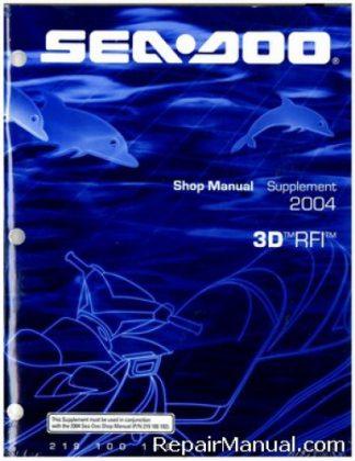 Official 2004 Sea-Doo 3D RFI Shop Manual Supplement