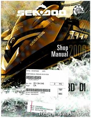 Official 2006 Sea-Doo 3D DI Shop Manual