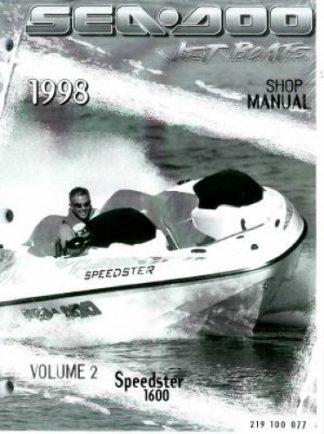 Official 1998 Sea-Doo Speedster 1600 Factory Shop Manual Vol 2
