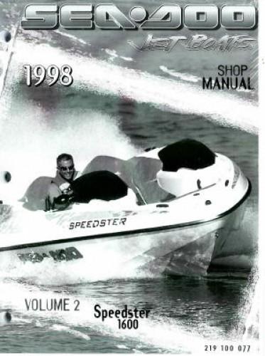 1998 sea doo speedster 1600 shop manual vol 2 rh repairmanual com 1998 seadoo sportster shop manual 1998 sea doo speedster shop manual