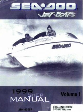 Official 1999 Sea-Doo Sportster/1800 Challenger/1800 Factory Shop Manual Vol 1