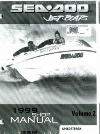 Official 1999 Sea-Doo Speedster/SK Factory Shop Manual Vol 2