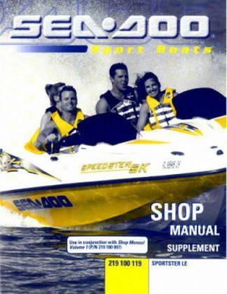 sea doo personal watercraft page 3 of 4 repair manuals online rh repairmanual com  2003 seadoo sportster le service manual