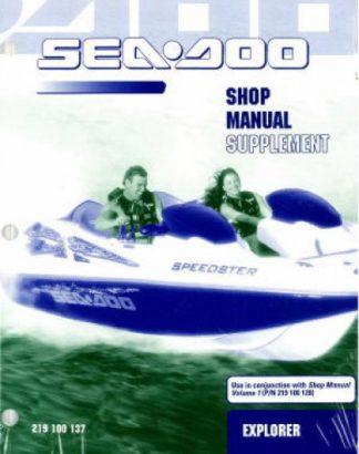 Official 2001 Sea-Doo Explorer Factory Service Manual Supplement