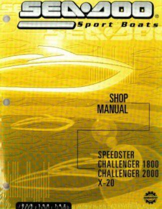 Official 2002 Sea-Doo Speedster Challenger 1800/2000 X20 Factory Shop Manual