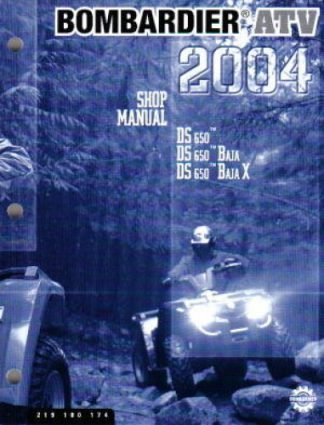 Official 2004 Bombardier DS 650 Baja Factory Service Manual