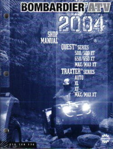 2004 Bombardier Traxter Quest Atv Service Manual