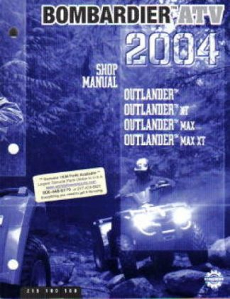 Official 2004 Bombardier Outlander Factory Service Manual