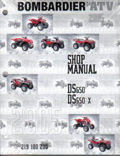 Official 2005 Bombardier DS 650 Factory Service Manual