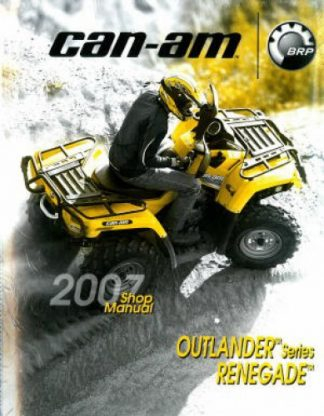 Official 2007 Outlander Renegade Factory Service Manual