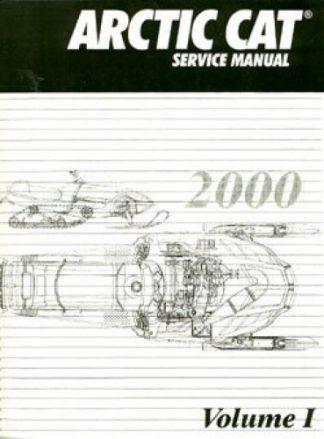 Official 2000 Arctic Cat Snowmobile Service Repair Manual Volume 1