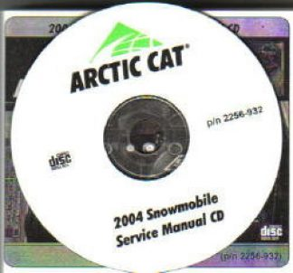 Official 2004 Arctic Cat Snowmobile Service Manual on CD-ROM