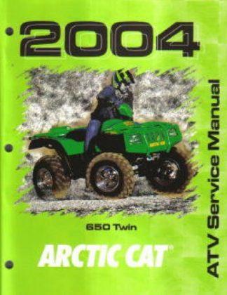 Official 2004 Arctic Cat 650 4x4 Factory Service Manual