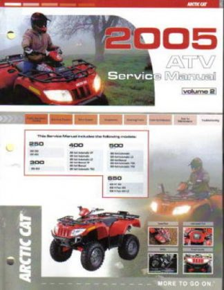 Official 2005 Arctic Cat 250 300 400 500 650 ATVs - FRAME ONLY Factory Service Manual Vol 2 of 2