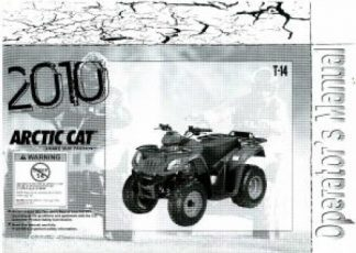 Official 2010 Arctic Cat T-14 Factory Owners Manual