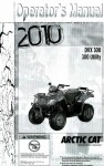 Official 2010 Arctic Cat DVX 300 Utility Factory Owners Manual