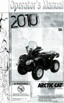 Official 2010 Arctic Cat 366 Factory Owners Manual