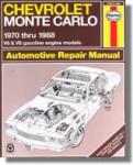 1970-1988 Chevrolet Monte Carlo Automobile Repair Manual Haynes