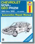 Haynes Chevrolet Nova Geo Prism 1985-1992 Auto Repair Manual