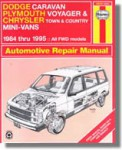 Haynes Dodge Caravan Plymouth Voyager Chrysler Town Country Mini-Vans 1984-1995 Auto Repair Manual