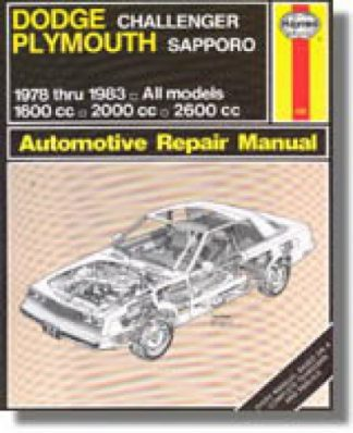 Haynes Dodge Challenger Plymouth Sapporo 1978-1983 Auto Repair Manual
