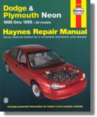 Haynes Dodge Plymouth Neon 1995-1999 Auto Repair Manual