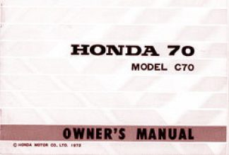 1972-73 Honda C70 Owners Manual