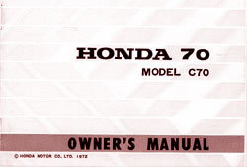 1972 73 honda c70 owners manual rh repairmanual com volvo c70 service manual pdf honda c70 passport service manual pdf