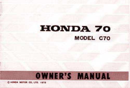 1972 73 honda c70 owners manual rh repairmanual com honda c70 service manual honda c70 repair manual free