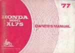 Official 1977 Honda XL175 Owners Manual