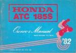 Official 1982 Honda ATC185 ATV Owners Manual