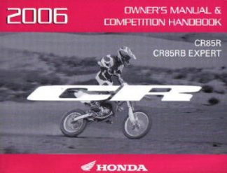 Official 2006 Honda CR85R RB Factory Owners Manual