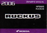 Official 2006 Honda NPS50 S Owners Manual
