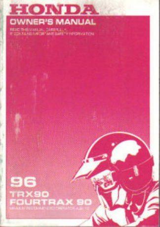 Official 1996 Honda TRX90 Owners Manual