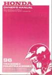 Official 1996 Honda TRX300EX Owners Manual