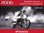 Official 2006 Honda CRF250R Factory Owners Manual