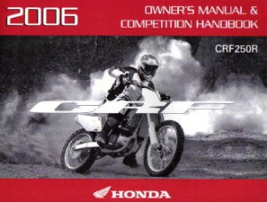 honda crfr motorcycle owners manual competition